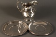 613: Gorham sterling pitcher and 2 plates