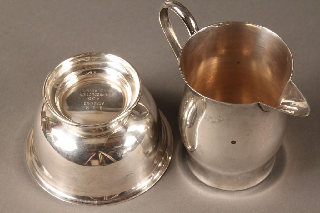 Lot 616: Mid Century Sterling hollowware, 7 pcs