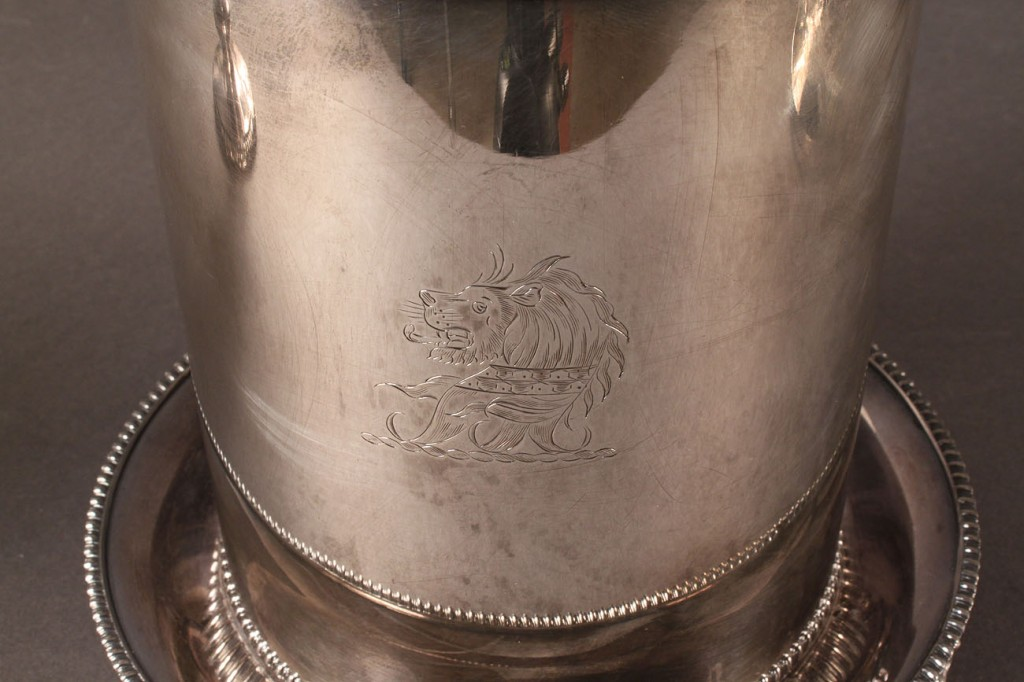 Lot 621: 3 Silverplated Items, incl. Hot Water Urn