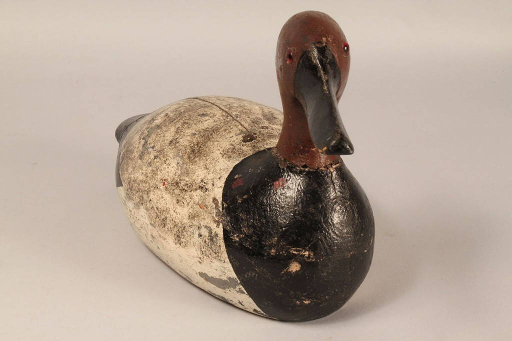 Lot 626: Carved and Painted Duck Decoy