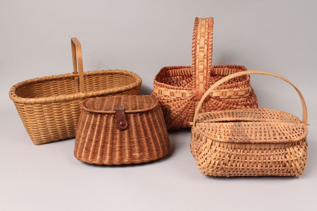 Lot 631: 4 Contemporary Baskets