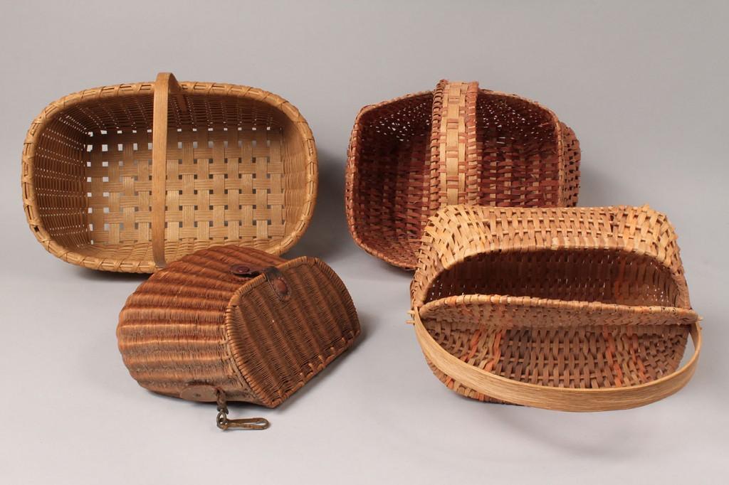 Lot 631: 4 Contemporary Baskets