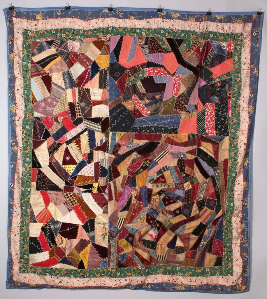 Lot 634: Ohio Victorian Crazy Quilt