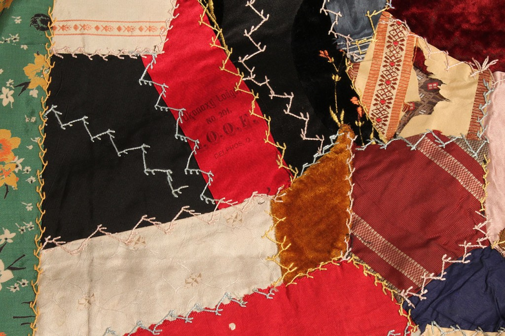 Lot 634: Ohio Victorian Crazy Quilt
