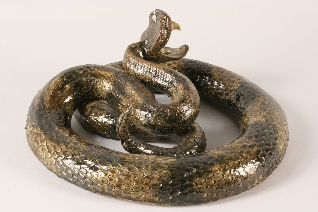 Lot 63: Crocker Stoneware Rattlesnake