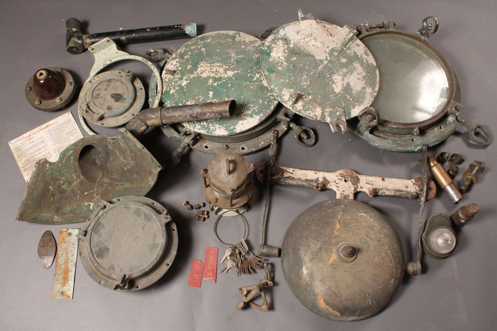 Lot 660: Grouping of Maritime Items including LT 579, LST 2