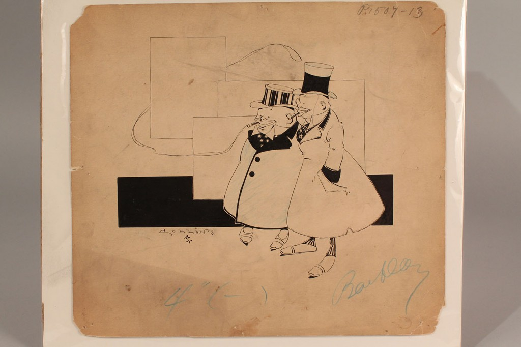 Lot 671: Lot of 5 Political Cartoon Ink Drawings