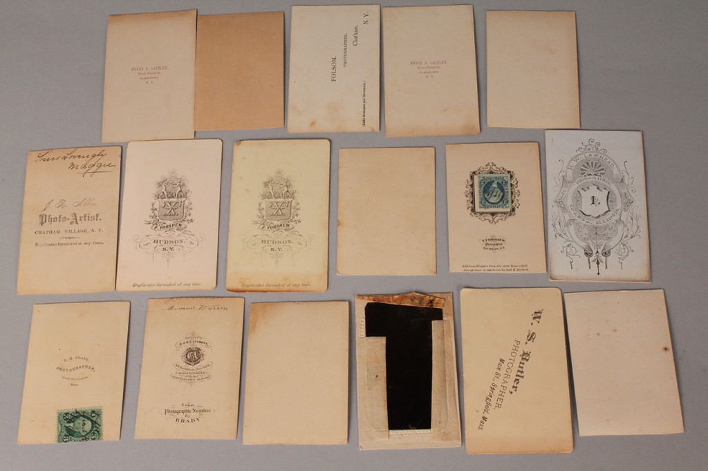 Lot 675: 17 Carte de visite Cards, incl. Tom Thumb