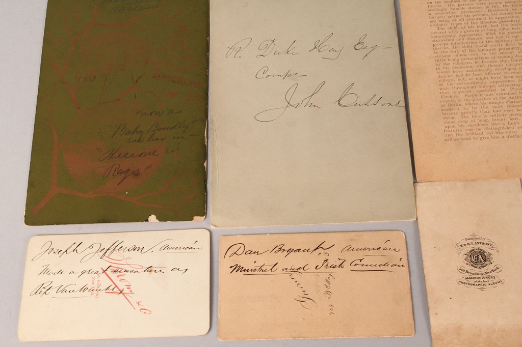 Lot 676: Actor & Circus related Photographic Cabinet Cards