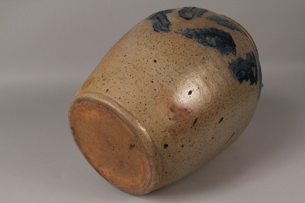 Lot 67: Cobalt Decorated Stoneware Jar