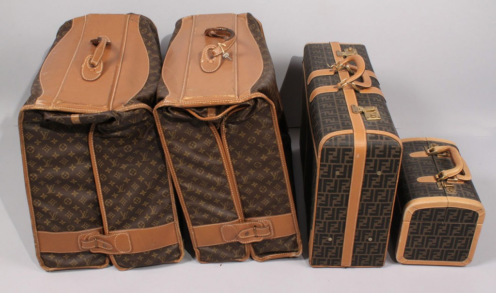 Lot 683: Fendi and Louis Vuitton luggage, total 4 pieces