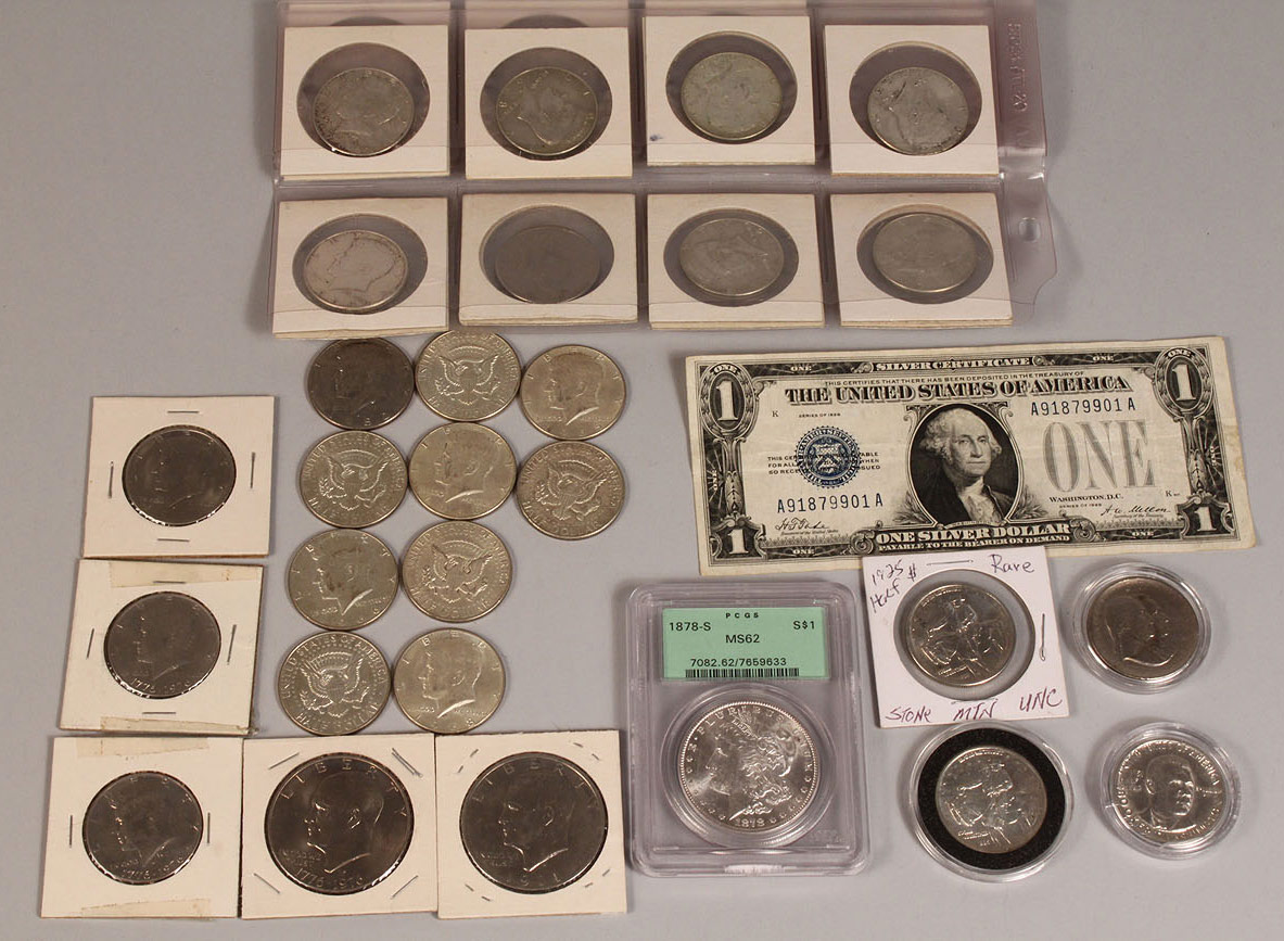 685: Lot of US Silver Coins, Commemorative Half Dollars