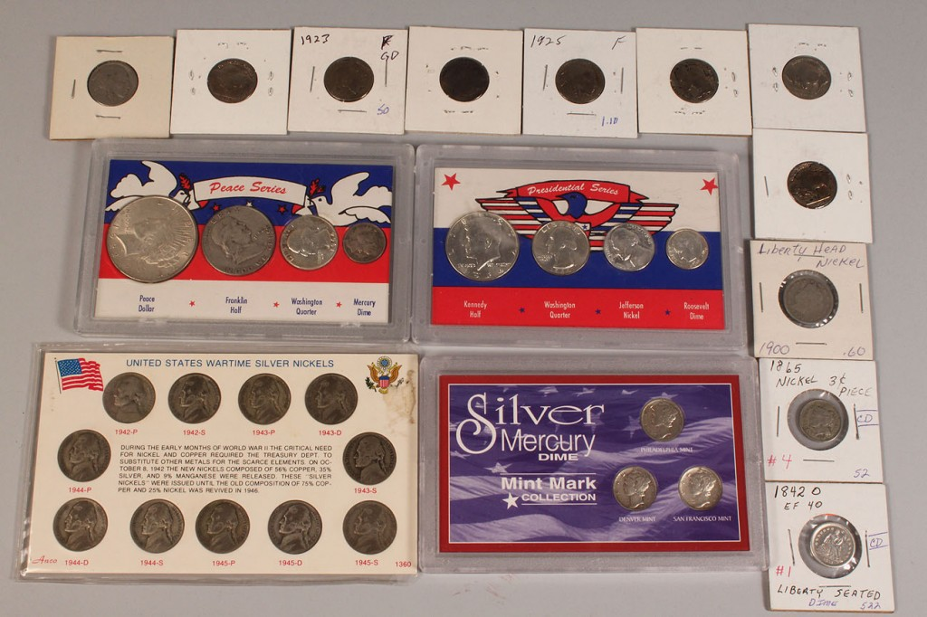 Lot 687: Lot of assorted U.S. Coins