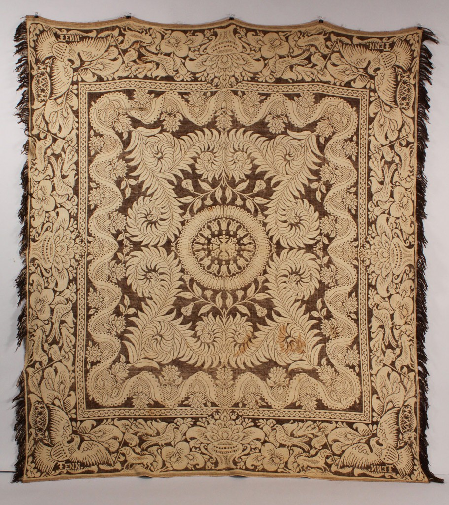 Lot 68: Maryville Woolen Mill Eagle Coverlet, TN