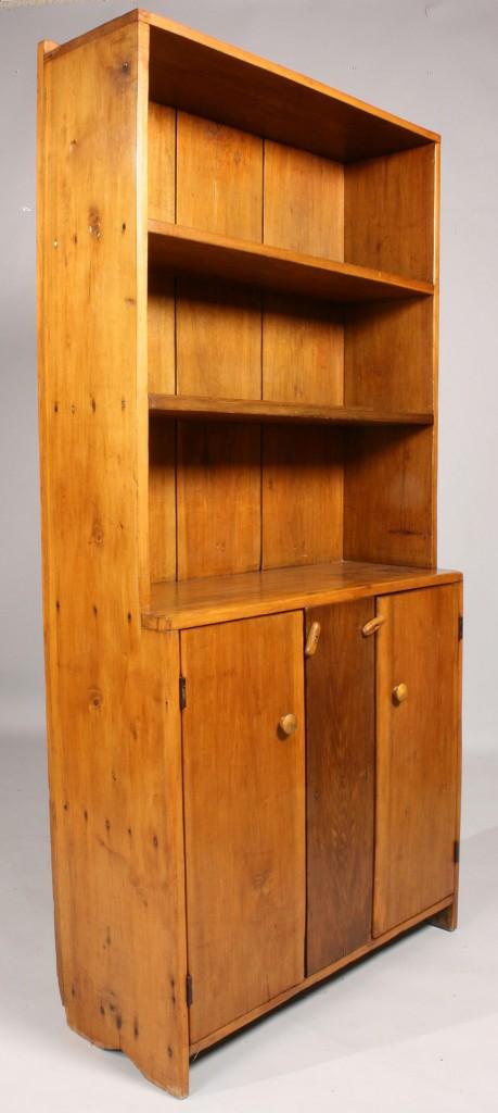 Lot 694: Stepback cupboard, dimunitive size