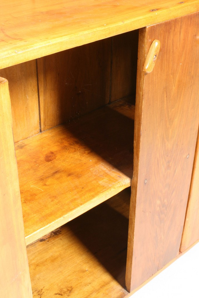 Lot 694: Stepback cupboard, dimunitive size