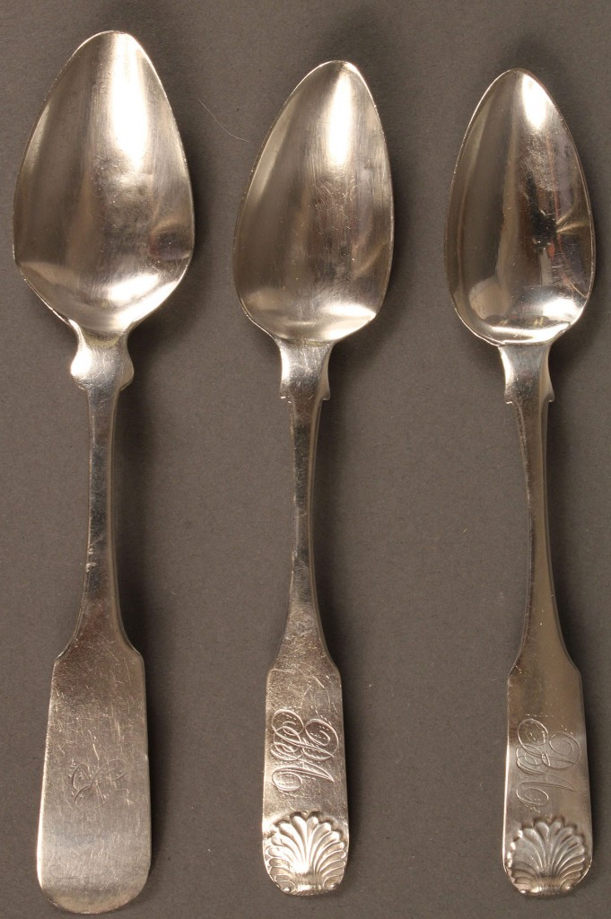 Lot 71: Keesee Richmond VA Coin Silver Spoon + 2 shell patt