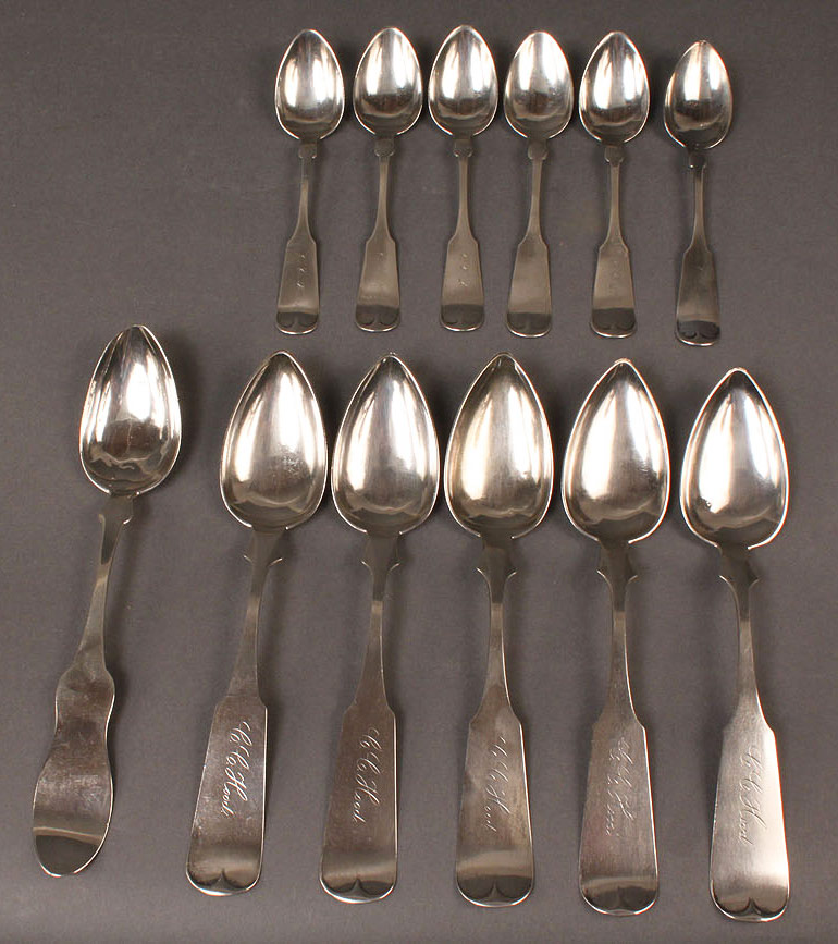 73: Assorted silver spoons, inc. Georgetown, KY