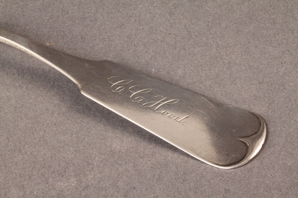 Lot 73: Assorted silver spoons, inc. Georgetown, KY