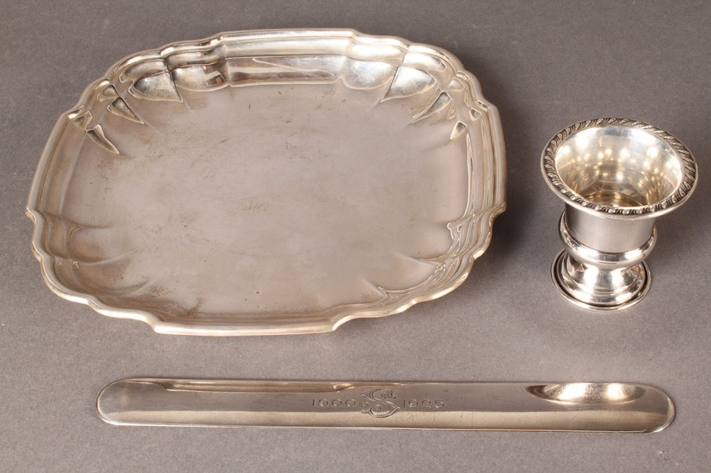 Lot 77: Lot of 8 sterling silver items