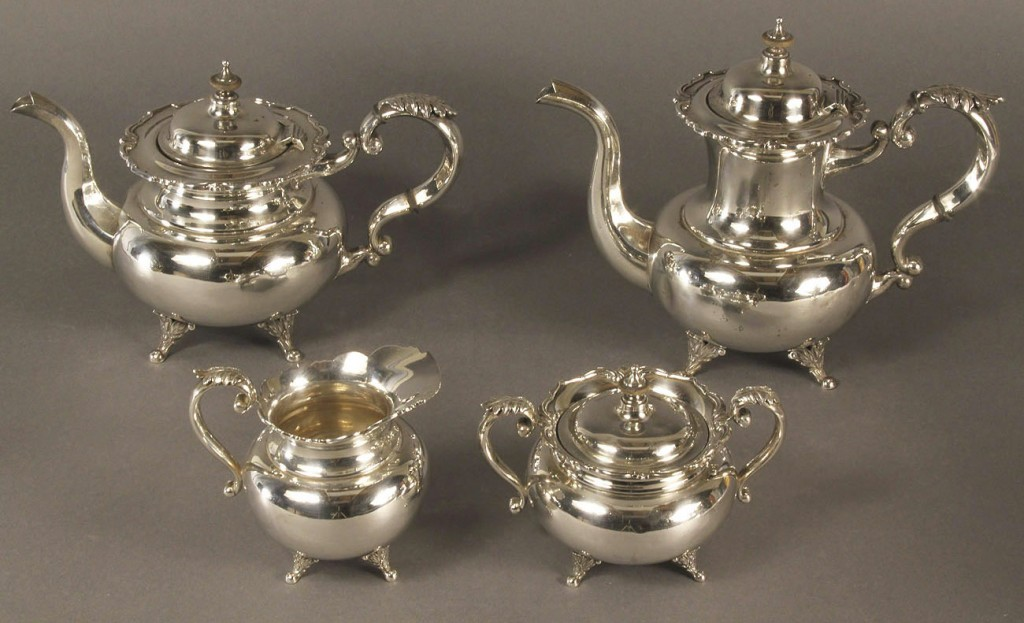 Lot 79: Silver Tea Set, 950 Standard, 4 pcs.