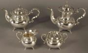 79: Silver Tea Set, 950 Standard, 4 pcs.