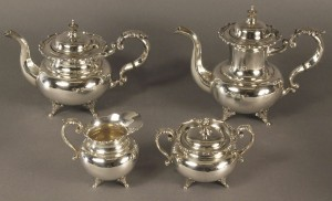 Lot 79: Silver Tea Set, 950 Standard, 4 pcs.