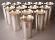 81: Thirteen Sterling Silver Tumblers