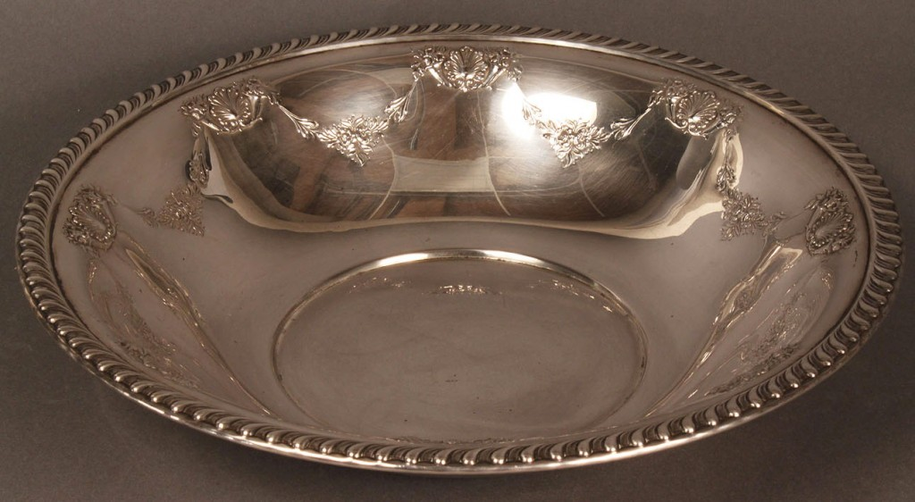 Lot 82: Sterling Silver Fruit Bowl, Ellmore Silver Co.