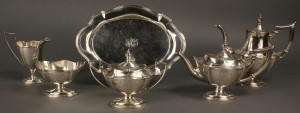 Lot 85: Gorham Sterling Silver Tea Set, 6 pcs