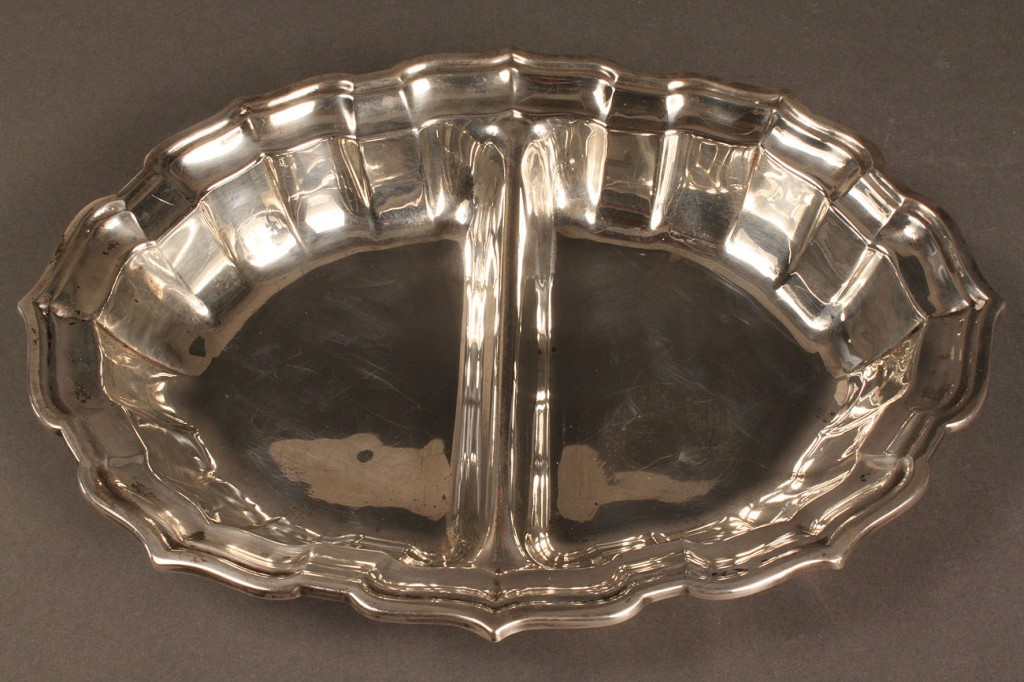 Lot 87: Two sterling silver serving bowls