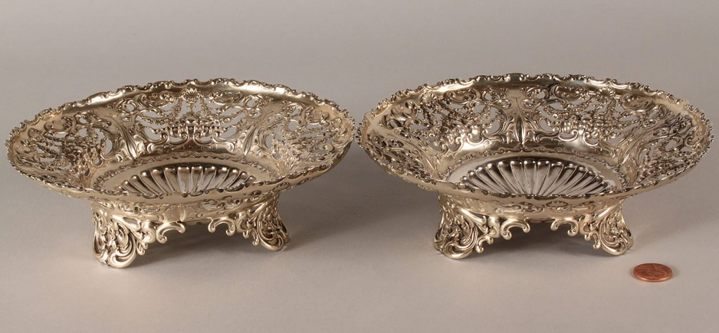 Lot 89: Pair of Whiting Sterling Silver compotes