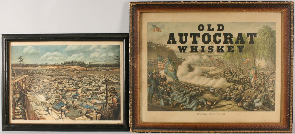 Lot 8: Lot of 2 Civil War Related Lithographs