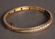 99: Ladies Art Deco Gold and Diamond Bracelet