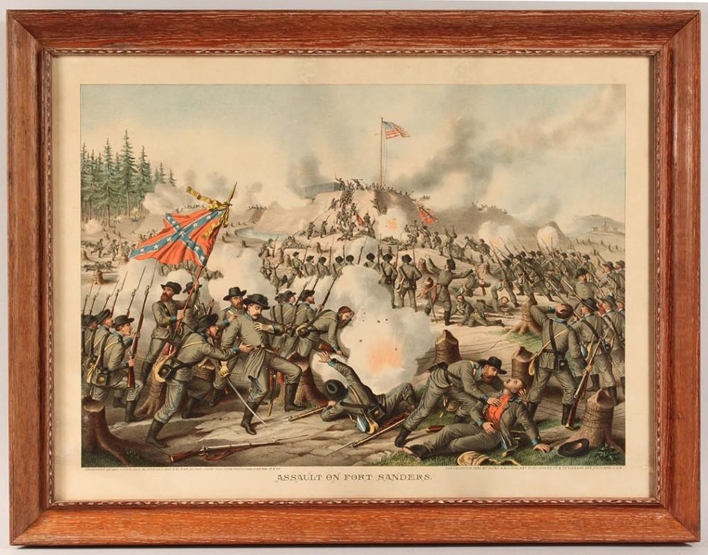 Lot 9: Kurz & Allison Civil War Battle Scene (Fort Sanders)