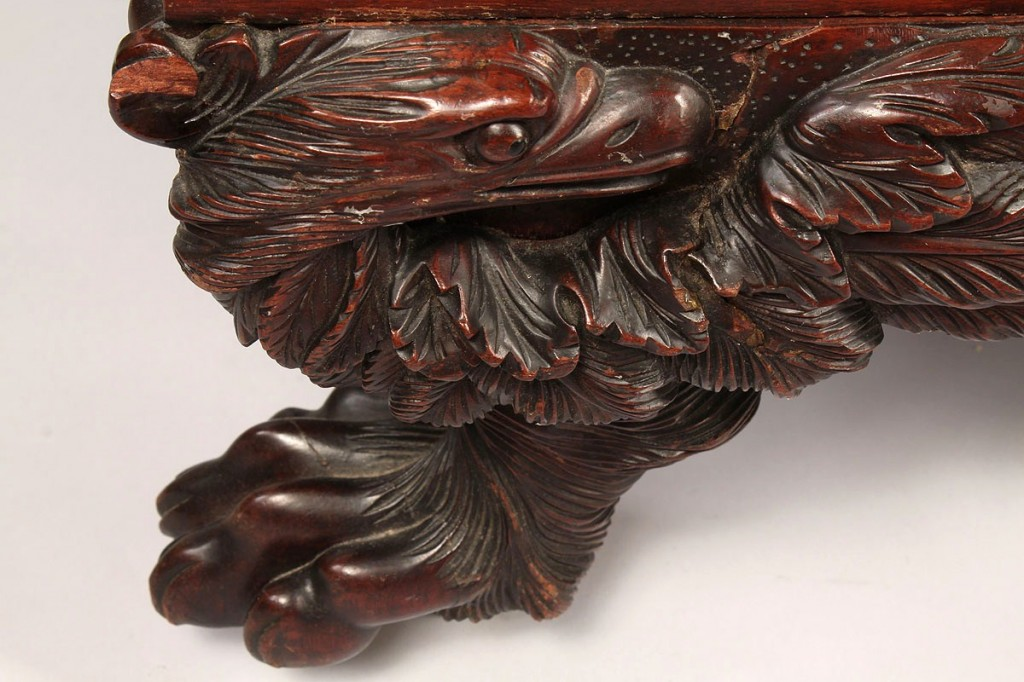 Lot 101: American Classical Recamier, elaborate carving