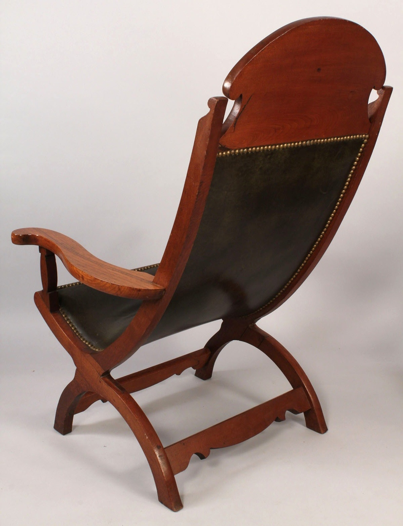 Lot 103: Pair Southern Campeche Chairs, possibly Louisiana