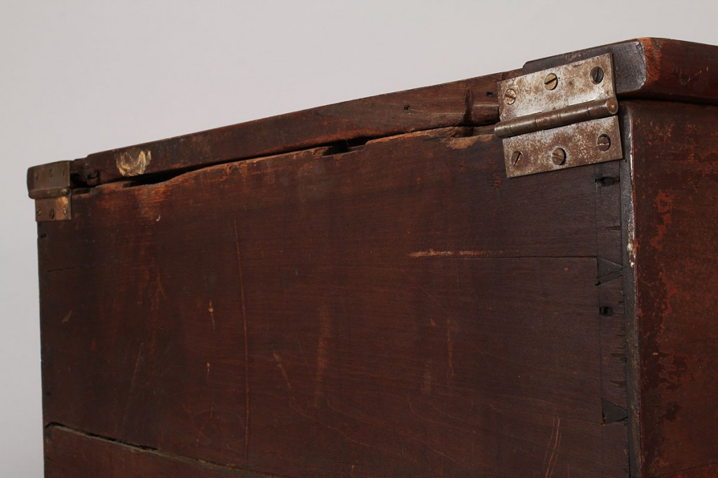 Lot 106: Middle TN Sheraton Sugar Chest, original surface