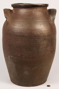 Lot 108: TN Mort Pottery Jar with Sine Wave Incising