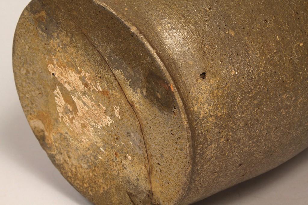 Lot 110: East TN Stoneware Pottery Jar, attrib. Mort