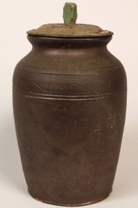 Lot 111: East TN  Stoneware Preserving Jar, Mort Family