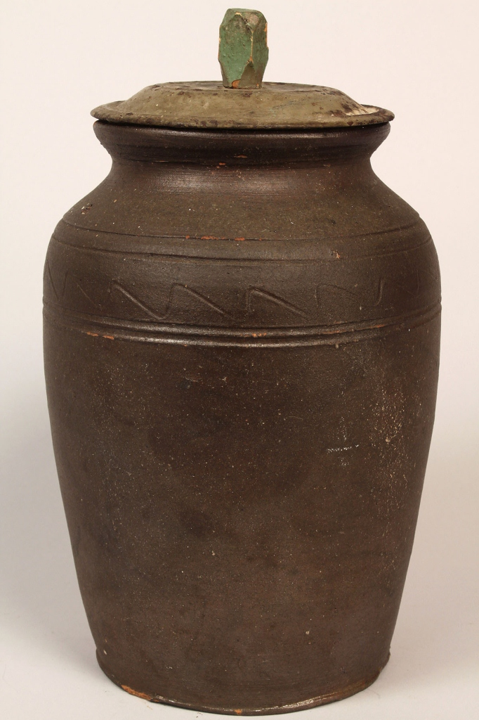 Lot 111: East TN  Stoneware Preserving Jar, Mort Family