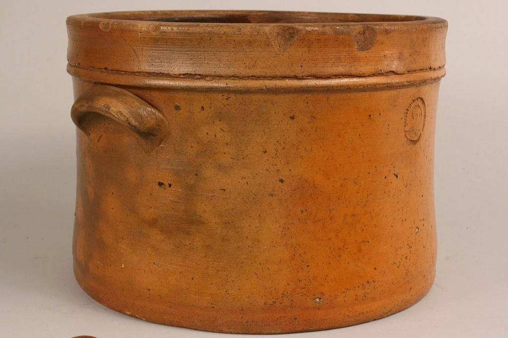 Lot 114: East TN Pottery Cream Riser, attr. Weaver Bros.