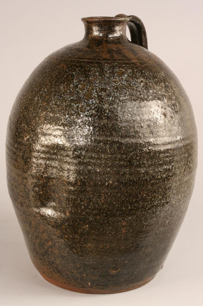 Lot 118: Southern Alkaline Glazed Pottery Jug, NC