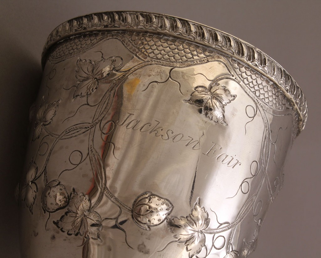 Lot 121: Tennessee Coin Silver Agricultural Goblet