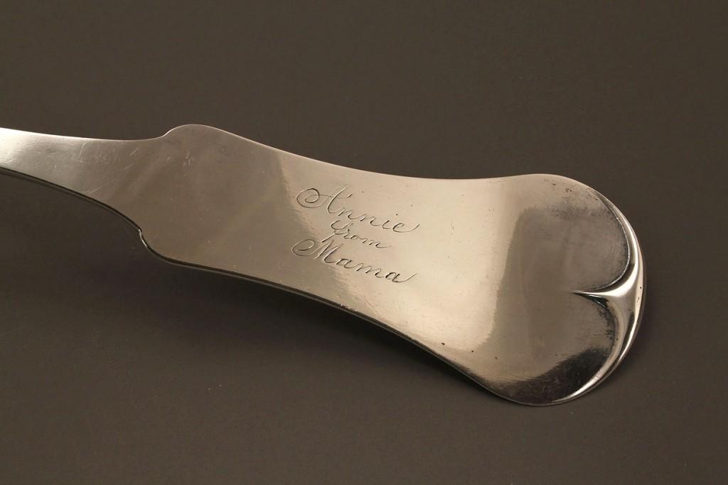 Lot 126: Memphis coin silver punch ladle, Merriman