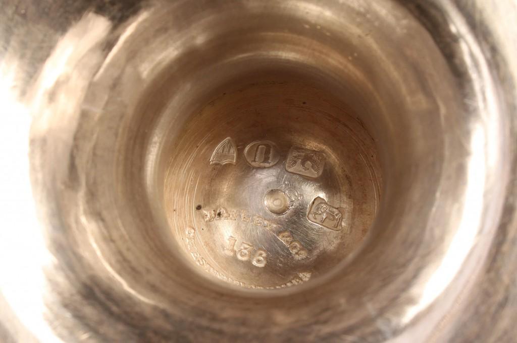 Lot 131: Bailey & Son Coin Silver Tea Service, 3 pcs.