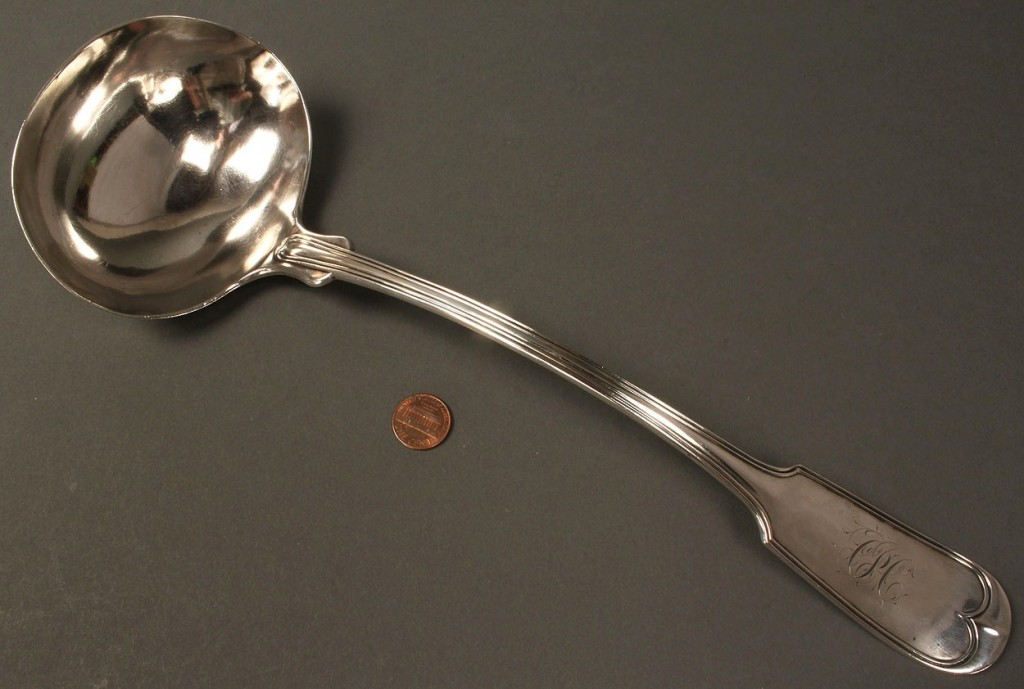 Lot 132: American Coin Silver Punch or Soup Ladle