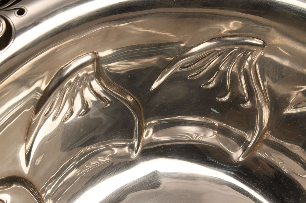"Lot 145: Tiffany & Co. Sterling 10"" Bowl, Clover Pattern"