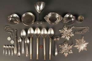 Lot 146: Grouping of Sterling including Tiffany, 37 pieces